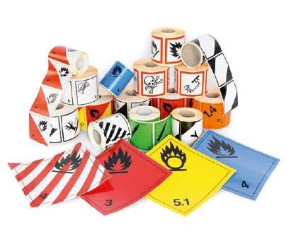 Gefahrgutlabel und Kennzeichnung