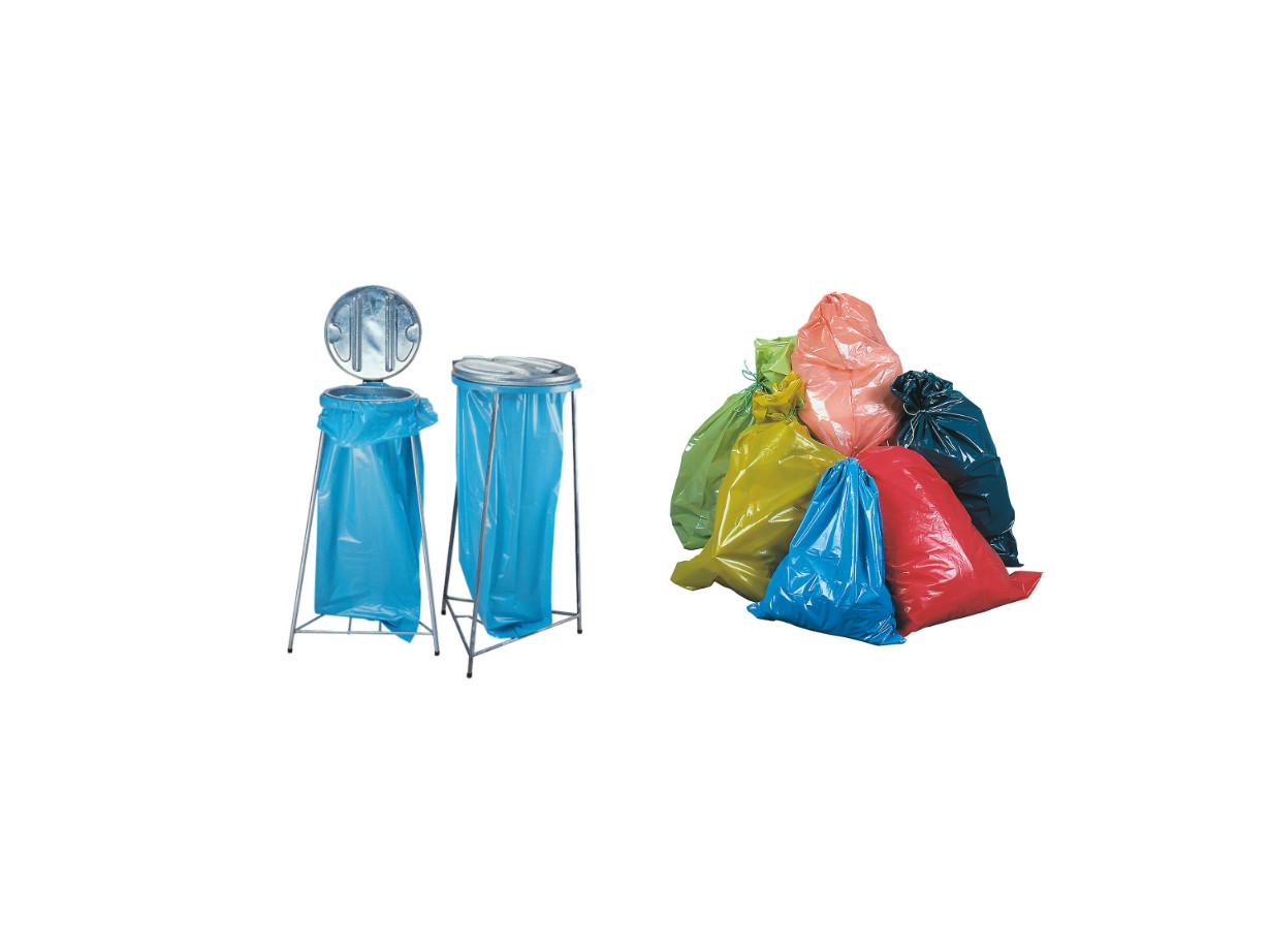 Säcke und Inliner aus Kunststoff sowie Ständersysteme