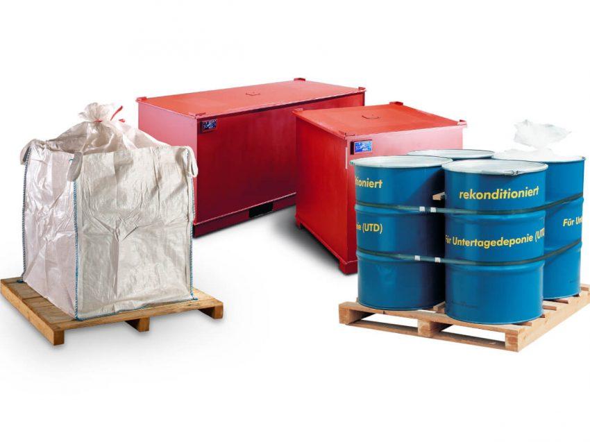 Untertagedeponie (UTD)-Verpackungen