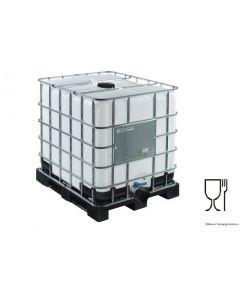 IBC Container 1000 Liter aus Kunststoff,  SM15, FDA UN-Y-Zulassung, EPDM-Dichtung