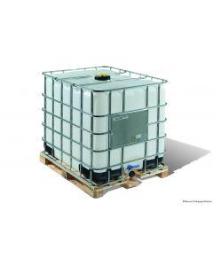 IBC Container 1000 Liter aus Kunststoff,  SM6 UN-Y-Zulassung, ETFE/EPDM-Dichtung