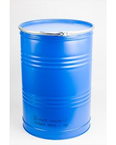 Spannringtrommel 400 Liter aus Stahlblech blau RAL 5015