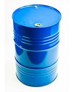 Sickenspundfass 216,5 l aus Stahlblech innen lackiert R78433, außen blau lackiert RAL 5010