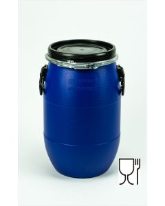 Standarddeckelfass 30 l aus Kunststoff Farbe: blau, lebensmittelecht