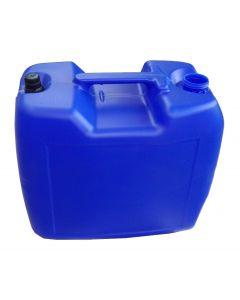 Mineralölkanister 20 Liter aus Kunststoff ohne Verschluss, Farbe blau, mit Sichtstreifen