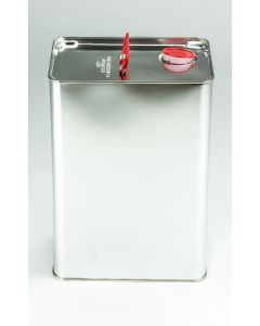 10 Liter UN Kanister, Weißblech, blank Kunststoffverschluss HZ401