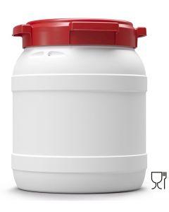 Weithalsfass 15,4 Liter aus Kunststoff mit Schraubdeckel UN 1H2/X22/S/...