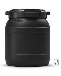 Weithalsfass 15 Liter aus Kunststoff mit Schraubdeckel UN 1H2/X22/S, UV-beständig