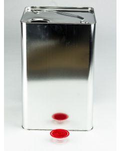 20 Liter UN Kanister, Weißblech, blank Kunststoffverschluss HZ 601