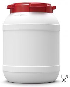 Weithalsfass 26 Liter aus Kunststoff mit Schraubdeckel UN 1H2/X33/S/...