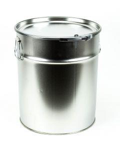 28 Liter UN Hobbock, Weißblech, blank Eindrückdeckel und Spannring