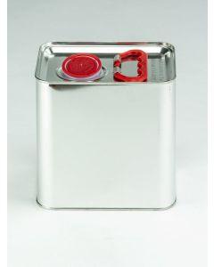 2,5 Liter UN Kanister, Weißblech, blank Kunststoffverschluss HZ 401, bestrahlt