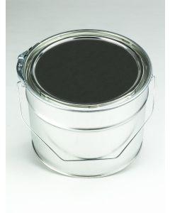6 Liter Eindrückdeckeleimer, Weißblech, blank Deckel mit Gummidichtung und Spannring, Splint