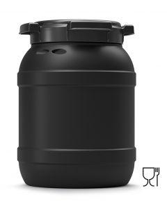 Weithalsfass 6 Liter aus Kunststoff mit Schraubdeckel UN 1H2/X20/S, UV-beständig