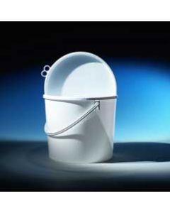 Druckdeckeleimer 18 Liter aus Kunststoff, rund, weiß, inkl. Deckel mit Kunststoffbügel, UN 1H2/X23Y27/S/...