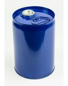 Flachkanne 12 Liter aus Stahlblech innen lackiert R78433, außen blau lackiert RAL 5010