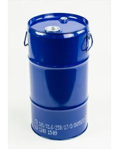 Flachkanne 30 Liter aus Stahlblech innen roh, außen blau RAL 5010