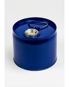 Flachkanne 6 Liter aus Stahlblech innenlackiert R78433, außen blau lackiert RAL 5010
