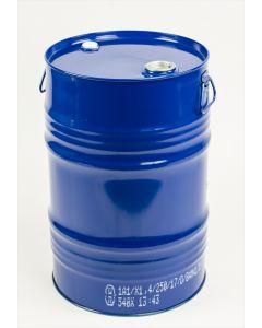 Garagenfass 60 Liter aus Stahlblech innen roh, außen blau lackiert RAL 5010