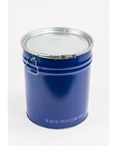 Hobbock 30 Liter aus Stahlblech innen lackiert, außen blau RAL 5010