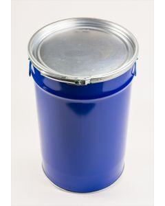 Hobbock 60 Liter aus Stahlblech Rumpf innen klarlackiert, außen blau