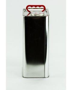 5 Liter UN Kanister, Weißblech, blank mit Blechverschraubung 60mm und Kunststoffgriff