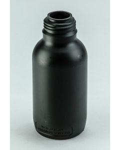 Kunststoff-Flasche 500 ml UN, rund, schwarz Enghals, DIN 45 (ohne Glockenverschluss)
