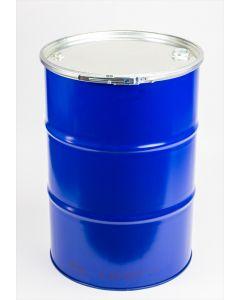 Sickendeckelfass ca. 200 Liter aus Stahlblech mit Spunddeckel, rekonditioniert