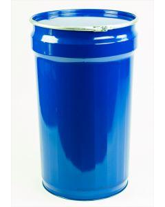 Spannringtrommel 110 Liter aus Stahlblech konisch, innen roh, außen blau RAL5010