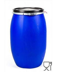 Standarddeckelfass 120 Liter aus Kunststoff Farbe: blau, lebensmittelecht