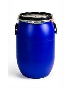 Standarddeckelfass 60 Liter aus Kunststoff mit Entgasung Farbe: blau