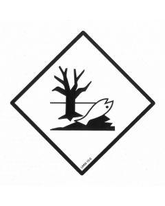 """Gefahrgutetikett """"Umweltgefährdender Stoff"""" / PE-Haftfolie Größe 25 x 25 cm"""