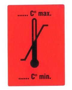 """Versandetikett """"Temperaturbereich"""", selbstklebendes Papier"""