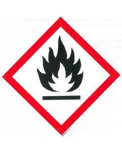 GHS-Etiketten GHS02, selbstklebendes Papier,  Entzündbare Stoffe und Stoffgemische