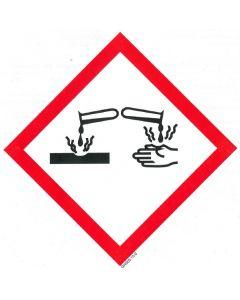 GHS-Etiketten GHS05, selbstklebendes Papier, Ätzende Stoffe und Stoffgemische