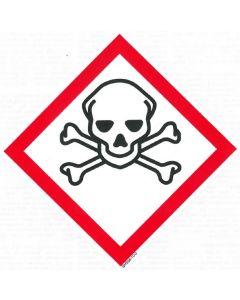 GHS-Etiketten GHS06, selbstklebendes Papier, Akute Toxidität, Gefahrenkategorie 1