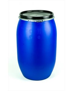 Standarddeckelfass 220 l aus Kunststoff Farbe: blau