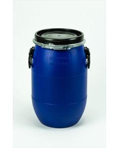 Standarddeckelfass 30 l aus Kunststoff mit Entgasung Farbe: blau