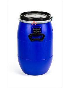 Standarddeckelfass 30 Liter aus Kunststoff mit Entgasung Farbe: blau