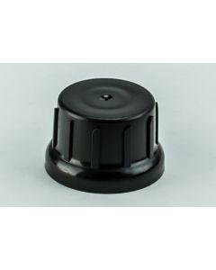 Glockenverschluss DIN 45,  schwarz (Kappe aus HDPE, Napf aus Lupolen 5261Z,