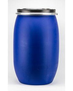 Standarddeckelfass 120 Liter aus Kunststoff, flüssigkeitsdicht Farbe: blau