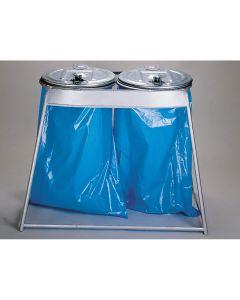 Doppelständer für Säcke mit Metalldeckel 2 x 120 l