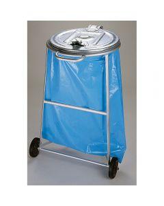 Fahrbarer Ständer für Säcke mit Metalldeckel 120 l