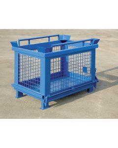 Gittercontainer mit kippbarem Boden aus Stahlblech 600 l