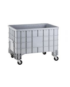 Fahrbare Kunststoffbox ohne Deckel, Volumen: 300 Liter