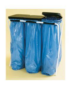 Ständer für Säcke mit Kunststoffdeckel 3 x 70 l