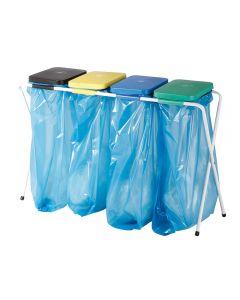 Ständer für Säcke mit Kunststoffdeckel 4 x 70 l