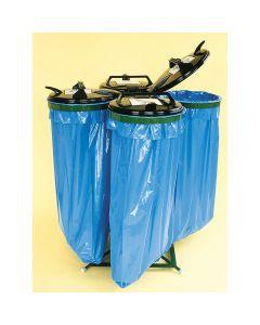 Ständer für Säcke mit Kunststoffdeckel 4 x 120 l