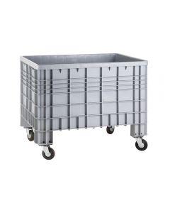 Fahrbare Kunststoffbox ohne Deckel, Volumen: 600 Liter