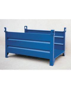 Materialbox aus Stahlblech - offen